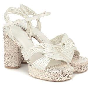 Mercedes Castillo Calisse leather platform heel